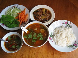 Burmese cuisine - A traditional Burmese meal