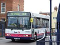 Bus at Worcester bus station, England - DSCF0731.JPG