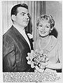 Businessman Fred May and his bride Lana Turner, 1960.jpg