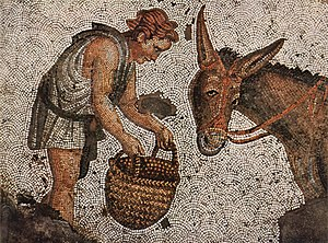 Hackamore - 5th century AD Eastern Roman mosaic from the emperor's palace in Constantinople.