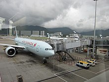 C-FNND Boeing 777-200LR of Air Canada at HKG - ovedc - 7.jpg