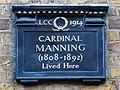 CARDINAL MANNING (1808-1892) Lived Here.jpg
