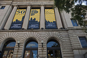 Community College of Philadelphia - Image: CCP Mint Building with Anniversary Banners