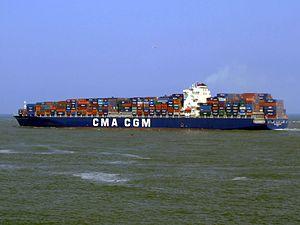 CMA CGM Don Giovanni 9305506 p3, leaving Port of Rotterdam, Holland 03-Jun-2007.jpg