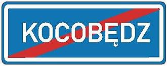 Town sign - Image: CZ IS12d Konec obce v jazyce národnostní menšiny 2007