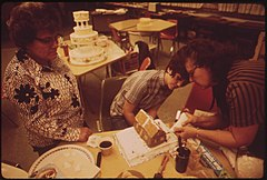 Cake Decorating Class, Part of Continuing Education Program of Colorado Mountain College, Meets in Rifle, 10-1972 (3815031757).jpg