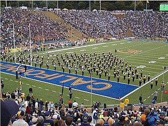 University of California Marching Band - Image: Calbandinitialwedge
