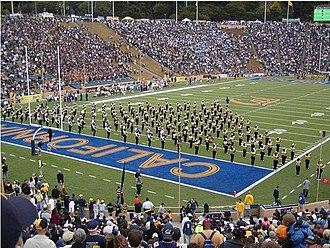 University of California Marching Band - Image: Calbandinitialwedge