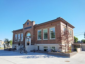 National Register of Historic Places listings in Canyon County, Idaho - Image: Caldwell, Idaho, Carnegie Library (1)