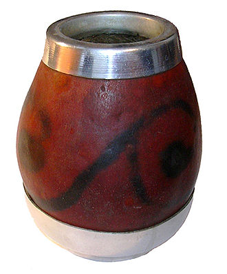 Gourd - A calabash gourd, Lagenaria siceraria, used for drinking mate