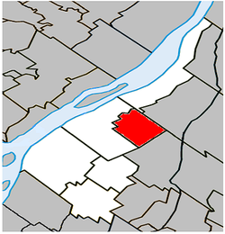 Location within Marguerite-D'Youville RCM