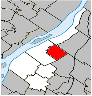Calixa-Lavallée, Quebec - Image: Calixa Lavallée Quebec location diagram