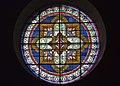 Calvisson-Église Saint Saturnin-Rosace de la nef-20130102.jpg