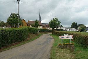 Camembert, Orne - Image: Camembert sign