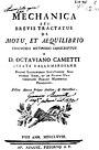 Cametti, Ottaviano – Mechanica, seu Brevis tractatus de motu et aequilibrio, 1768 – BEIC 71310.jpg