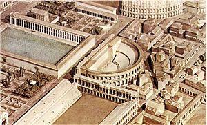 Odeon of Domitian - Model of the Odeon of Domitian