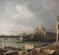 Canaletto - L'Entrée du Grand Canal, vue de l'extrémité occidentale du Môle.jpg