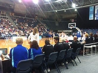 Sydney Uni Flames - Sydney Uni Flames in white at a 6 January 2012 game at AIS Arena against the Canberra Capitals