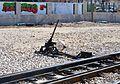 Canvi d'agulles, estació de Gata.JPG