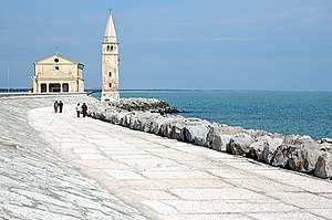 Caorle - The Church of the Blessed Virgin of the Angel on the sea.