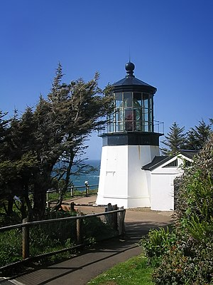 National Register of Historic Places listings in Tillamook County, Oregon - Image: Cape Meares Lighthouse