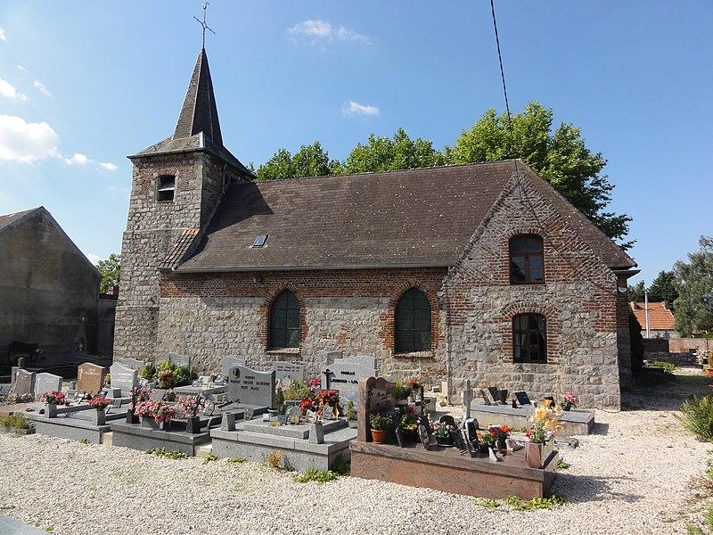 Capelle (Nord, Fr) église, vue latérale