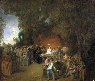 C.1711 painting by Antoine Watteau