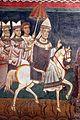 Cappella di san silvestro, affreschi del 1246, storie di costantino 07 papa condotto in roma 4.jpg