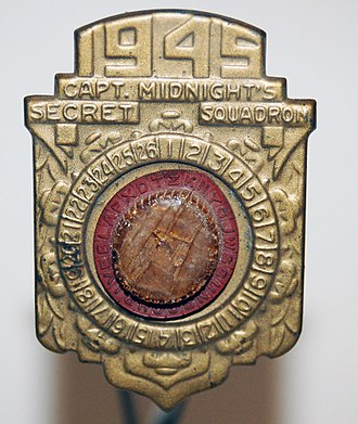 Radio premium - Capt. Midnight Decoder Badge