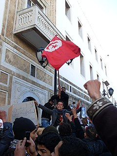 Tunisian Revolution Intensive 28-day campaign of civil resistance in Tunisia, ending in January 2011