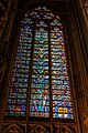 """Carcassonne - La Cité - Basilique Saint-Nazaire - View East on """"Tree of Life""""- Stained Glass Window 1853 - The Original 14th Century Glass is mostly replaced with hard coloured 19th Century material.jpg"""