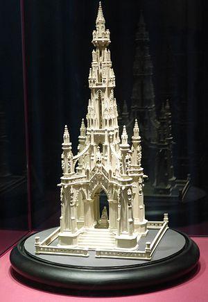 Cardboard modeling - Cardboard model of the Scott Monument, Edinburgh (1860)