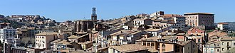 Cardona, Spain - Panoramic view of the village, from near the castle
