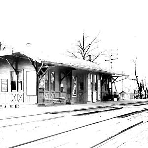 Carlton Hill (Erie Railroad station) - The Carlton Hill station building in 1909