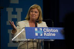 Carol Shea-Porter - Shea-Porter speaks at a Hillary Clinton presidential rally at Southern New Hampshire University.