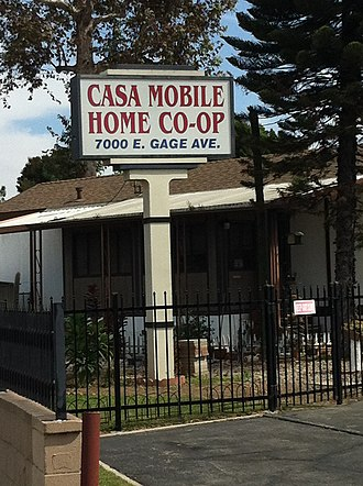 Bell Gardens, California - Casa Mobile Home co-op site of Henry Gage Mansion