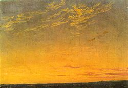 Caspar David Friedrich: Evening with clouds