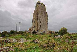 Tubber, County Clare - Another view of Derryowen Castle