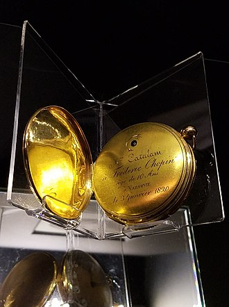 Frédéric Chopin - Pocket watch presented by the soprano Angelica Catalani to the 9-year-old Chopin on 3 January 1820