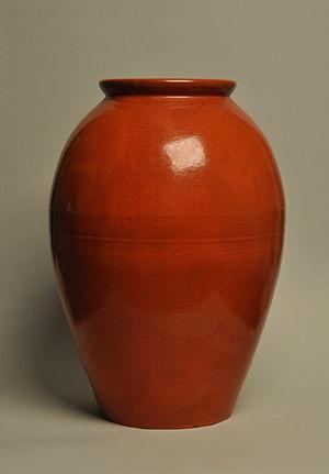 Catalina Pottery - Catalina Pottery oil jar