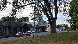 Downtown Cave Springs looking north along Highway 112.