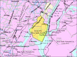 Census Bureau map of Jersey City, New Jersey