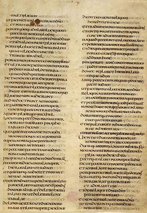 Ceolfrid Bible - Folio 11r of the Ceolfrid Bible.
