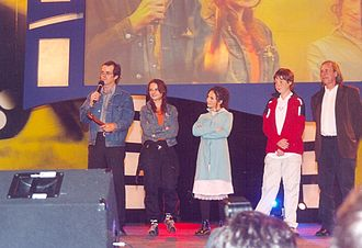 Machuca - Andrés Wood, Aline Kuppenheim, Manuela Martelli and Matías Quer at the Viña del Mar International Film Festival 2004