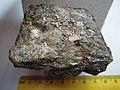Chalcopyrite CuFeS2, galena PbS, siderite Fe2CO3 (20245777402).jpg
