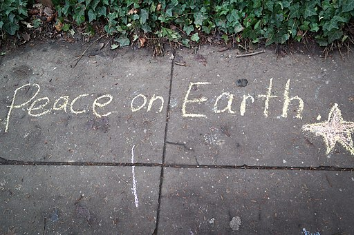 Chalk Peace on Earth