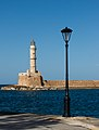 Chania lighthouse and lamp post.jpg