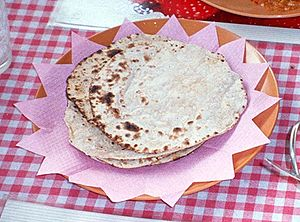 Roti - Indian flat roti, also known as chapati
