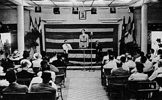 Brazzaville Conference - Charles de Gaulle opening the Brazzaville Conference, 1944