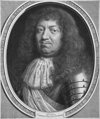 Charles d'Albert d'Ailly - Portrait of Charles d'Albert d'Ailly by Robert Nanteuil, 1676